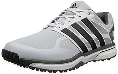 adidas Men's Adipower s Boost Golf Shoe, Clear Grey/Black/Bold Orange, 7 M US