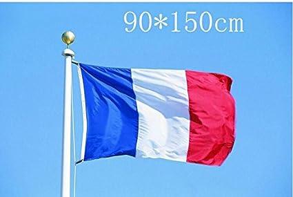 En polyester R/ésistant aux UV Drapeau de la France Double couture Newin Star Environ 90 x 150 cm