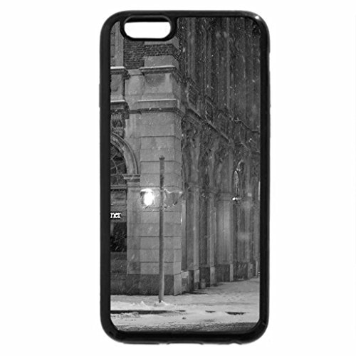 iPhone 6S Plus Case, iPhone 6 Plus Case (Black & White) - corner cafe in rochester ny in winter
