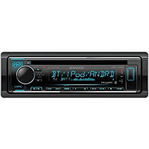 Kenwood eXcelon KDC-X302 CD Receiver w/Bluetooth Front USB SiriusXM Ready Spotify, Pandora and iHeart Link for iPhone or Android phones,
