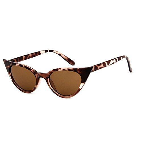 Mujer A05 De Gafas Sol Sol Retro Gafas Para Estilo Marco De Catado Grueso Leopardo Polarizadas ECYC® H44Xqw