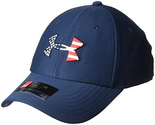 Under Armour Men's Freedom Blitzing Cap, Academy//Red, Medium/Large (Under Armour Hats For Men)