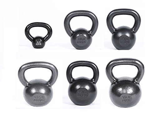 Ader Premier Kettlebell Set w/ DVD (5, 15, 25, 35, 45, 55 Lbs) by Ader Sporting Goods