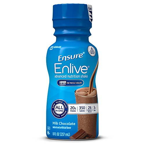 Ensure Enlive Advanced Nutrition Shake with 20 grams of protein, Meal Replacement Shakes, Milk Chocolate, 8 fl oz, 16 count