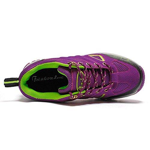 Stivali Donna Scarpe Stringate Trekking Moda Purple RAZAMAZA q4Ow8RR