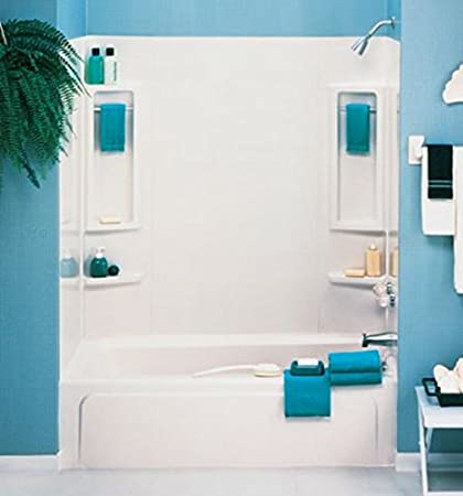 ASB 39240 Vantage Tub Wall, White, 5-Piece - Bathtubs - Amazon.com