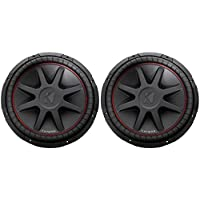 (2) Kicker 43CVR154 15 Dual Voice Coil 4-Ohm Car Stereo Subwoofers Totaling 2000 Watt