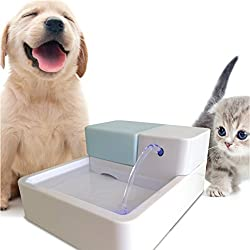 Pet Water Fountain, Uniclife Dog Cat Automatic Electric Drinking Bowl with LED Light