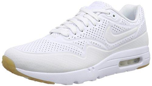 Nike Men's Air Max 1 Ultra Moire White/White Running Shoe 8.5 Men US