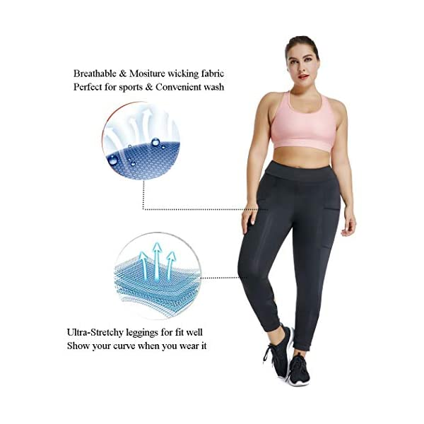 a474f452d786d Joyshaper Cutout Leggings with Pockets for Women High Waist Capri Yoga  Pants Workout Running Tights Gym Trousers