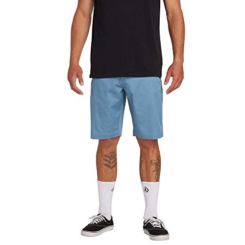 Volcom Men's Frickin Modern Stretch Chino Short, Blue -