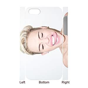 3D IPhone 4/4s Case Miley Cyrus with Tongue out Naughty, Case for Iphone 4s - [White] Bloomingbluerose