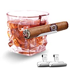 Why We Design It? People complain no where to rest the cigar unless taking an extra bothering ashtray. So this is how our cigar holder come from.Rocks glass with cigar rest, cigar holder let you hold your drink and cigar in the same hand at ...