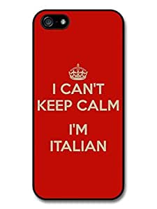 AMAF ? Accessories Keep Calm - I Can't Keep Calm I'm Italian Italy Funny case for iphone 4s