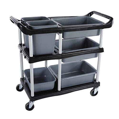 Three Floors PP Bowl Car, Tableware Collection Car, Hotel Restaurant, Multi-Function Collecting Car, Dish Car, Service Trolley -Tool cart (Color : - Restaurant Collection