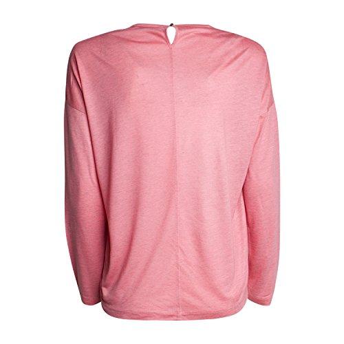 iheart Damen Langarmshirt Gitta - von Farbe Coral