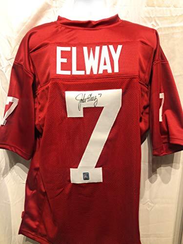 - John Elway Standford Cardinals Signed Autograph Custom Jersey Elway Player Hologram