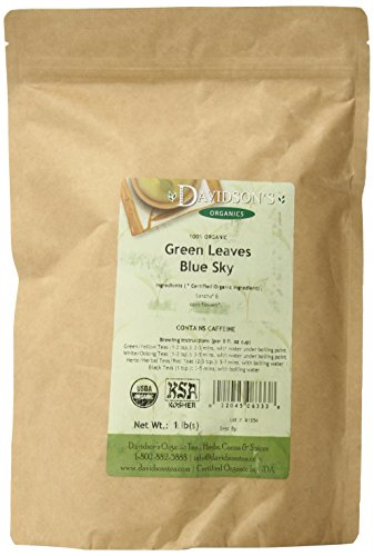 Davidson's Tea Bulk, Green Leaves Blue Sky, 16-Ounce Bag