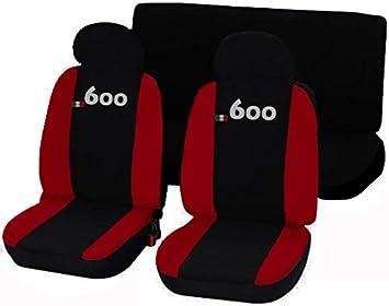Autoaccessori Coprisedili Fiat 600 Bicolore Nero - Rosso: Amazon