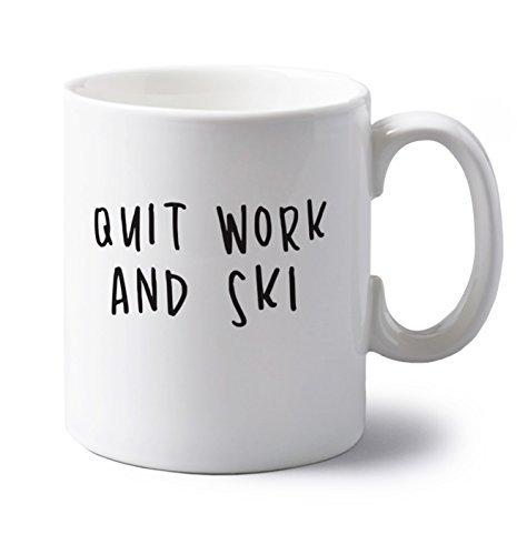 Quit work and ski | 11 oz ceramic mug | Flox Creative ()