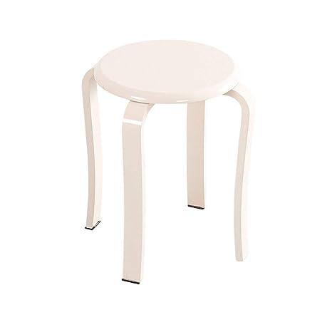 Superb Amazon Com Grjxmd Wooden Poffee White Stack Stool 4 Leg Pdpeps Interior Chair Design Pdpepsorg