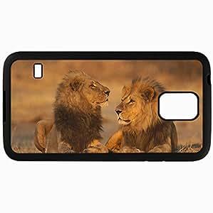Fashion Unique Design Protective Cellphone Back Cover Case For Samsung GalaxyS5 Case Lion Black