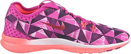 Nike Womens Free 5.0 Tr Fit 5 Scarpa Da Allenamento Fuchsia Flash / Fuchsia Glow / Bianco / Lava Calda