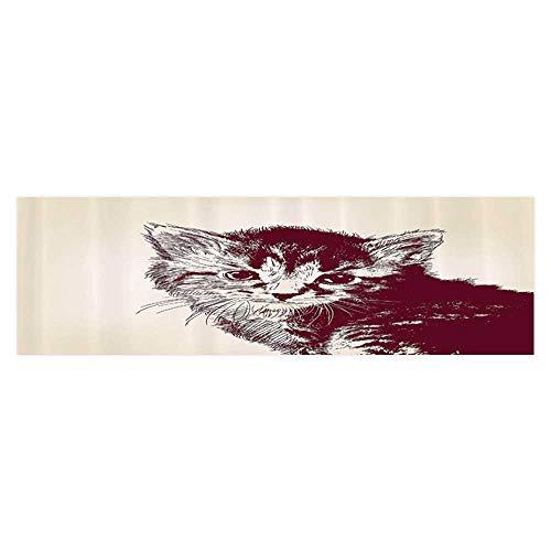 """Leigh R. Avans Aquarium Sticker Grunge Style of Cute Baby Little Innocent Kitty Vintage Wallpaper Sticker Background Decoration 29.5""""x17.7"""""""