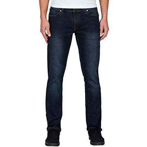 Volcom Men's Vorta Slim Fit Stretch Denim Jean, Vintage Blue, 34X32 (Sale Vintage Denim)