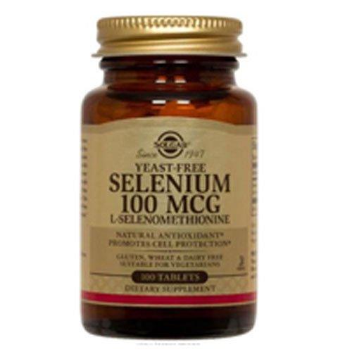 Yeast-Free Selenium, 100 mcg, 100 Tabs by Solgar (Pack of 4)