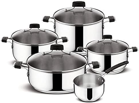 Lagostina Pots De Batterie Set 9 Pieces Tempra Lagostina Amazon