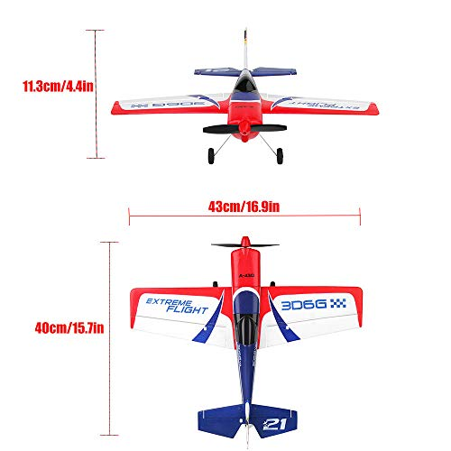 RC Drone for Adults and Beginners XK A430 2.4G 5CH Brushless Motor 3D6G System RC Airplane EPS Aircraft RC Fixed-Wing Airplane Which Made Of EPS,Nice Gift For Friends And RC Toys Fans (white) by succeedtop ❤️ Ship from US ❤️ (Image #7)