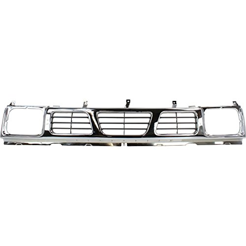 Evan-Fischer EVA1777209532 Grille for Nissan Pickup 93-97 Chrome Shell/Painted-Gray (Pickup Grille Shell)