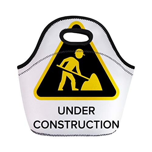 Semtomn Lunch Tote Bag Yellow Street Under Construction for sale  Delivered anywhere in USA
