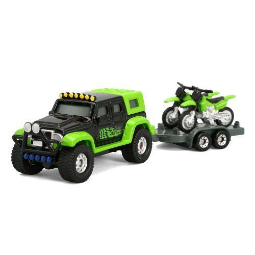 Tonka Die-Cast 4x4 with Motorcycle