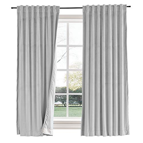 Guitare Tab - Curtains Your Way Velvet Blackout Back Tab Curtain - 72