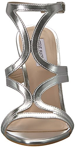 Madden Silver M 5 Steve Leather Us Women's Sandal Sidney Heeled 5 pqX6dq