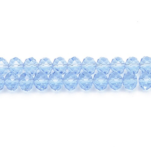 90+ Pale Blue Czech Crystal Glass 3 x 4mm Faceted Rondelle Beads GC8848-1 (Charming Beads)