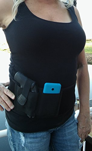 TUMMY TUCKER Belly Band Concealed Gun Holster,Neoprene,fits small subcompact,compact,even full size pistols+revolvers,Sig Sauer,Beretta,Bersa,Kel Tec,Walther.380,9mm,40 auto,45 ACP,38 special,357,10mm