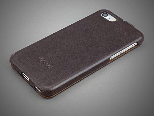 CASEual LEFLIPIP7-ITAL-MOC Italian Leder Flip Schutzhülle für Apple iPhone 7 mocca