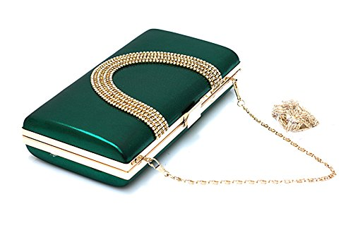 Bags Women Beaded Purse Clutch Wedding Green Large Evening Rhinestone EPLAZA Capacity Handbags Party w066IR