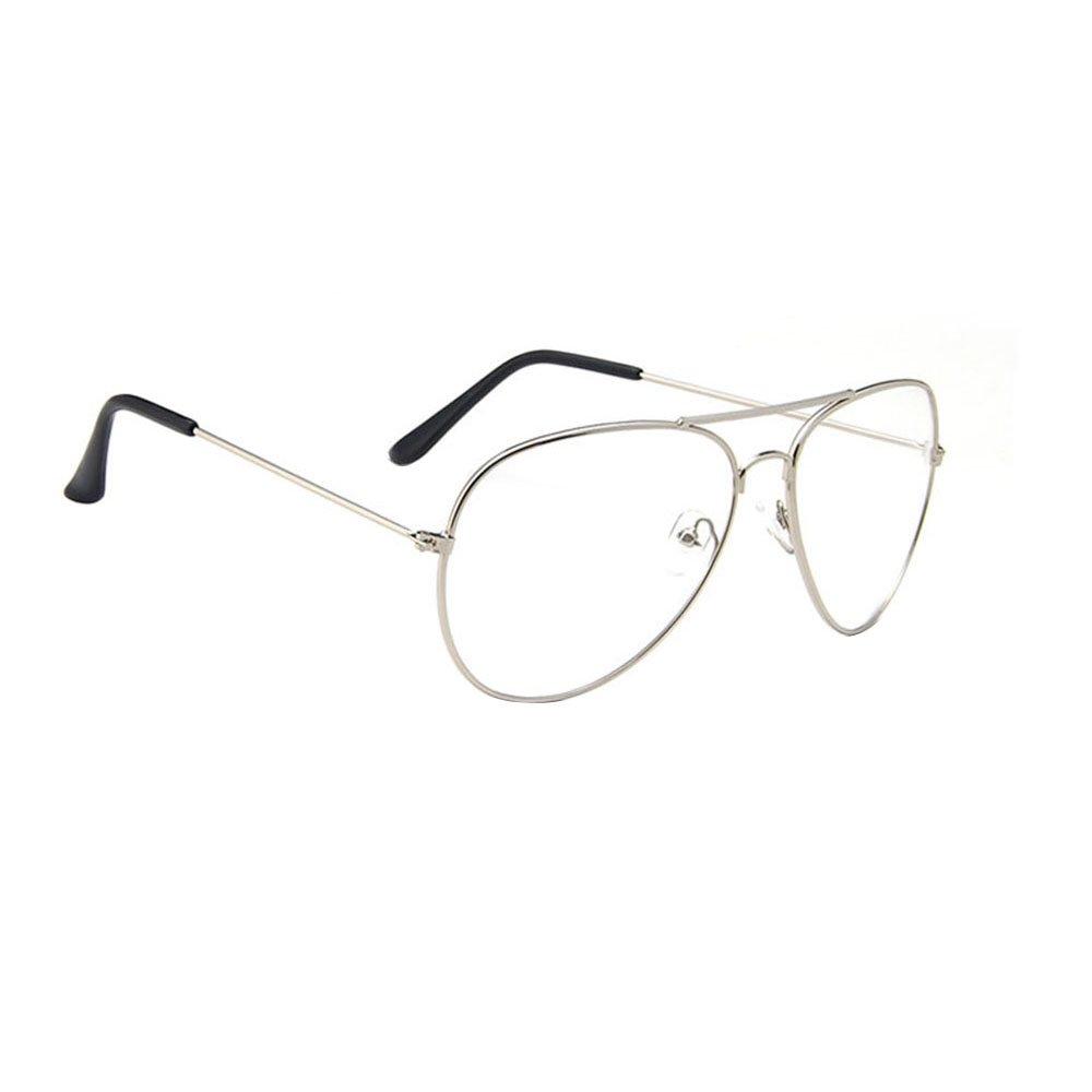 Pilotenbrille Brille Damen Herren Fensterglas Sonnenbrille ...