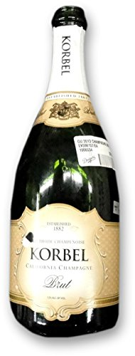 Korbel Brut Champagne Empty Bottle From Dodgers Clinching 2013 Western Division
