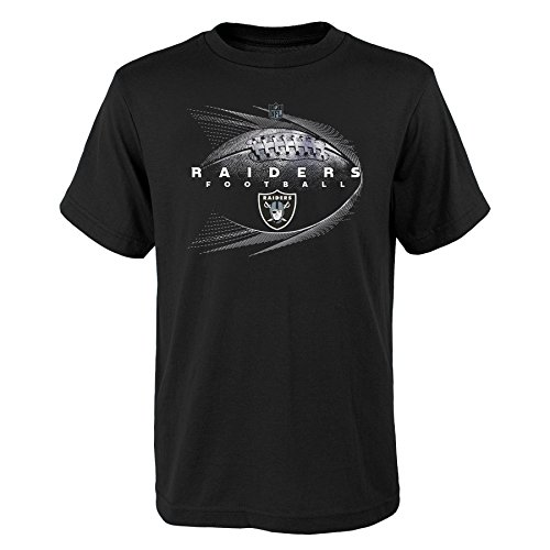 - NFL by Outerstuff NFL Oakland Raiders Youth Boys Jet Stream Short Sleeve Tee Black, Youth Medium(10-12)
