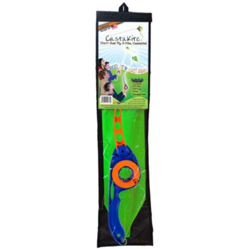 Castakite Flying Blue Handle w/ Orange Rod Kite Outdoor Toy