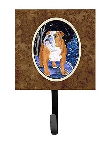 Caroline's Treasures SS8405SH4 Starry Night English Bulldog Leash Holder or Key Hook, Small, - Bulldog Leash Hook