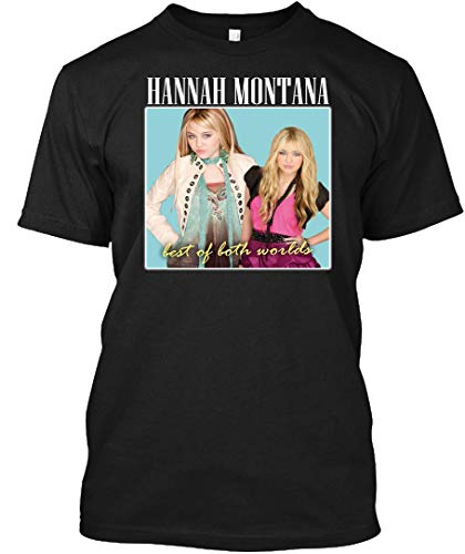 Hannah Montana - 90 S Inspired Design 12 Tee T-Shirt Black