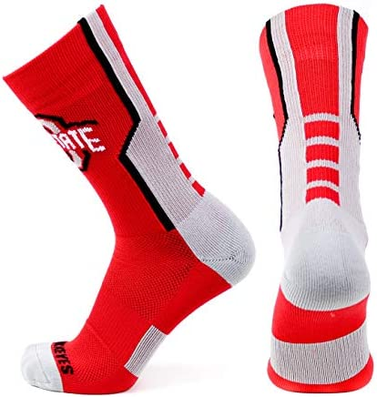 One Size Donegal Bay NCAA Ohio State Buckeyes Unisex Ohio State White Sport Sockohio State White Sport Sock Red