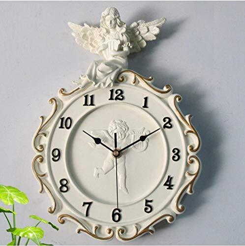 - SSKGZ Wall Clocks European Resin Clock Piano Angel Wall Clock Rome Digital Wall Clock Mute Clock 34.5Cmx24.5Cm