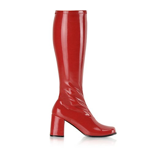 Funtasma by Pleaser Women's Gogo-300 Boot Red Stretch Patent Size (Pleaser Go Go Boots)